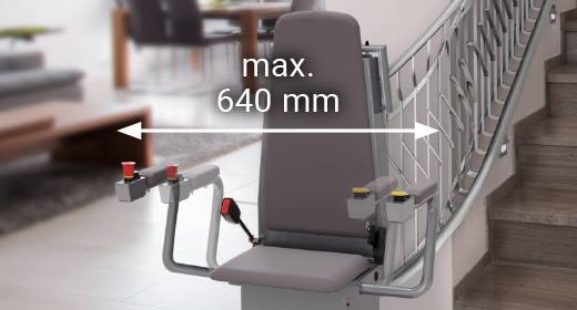 LIPPE Lift Sitztreppenlift verstellbare Armlehne
