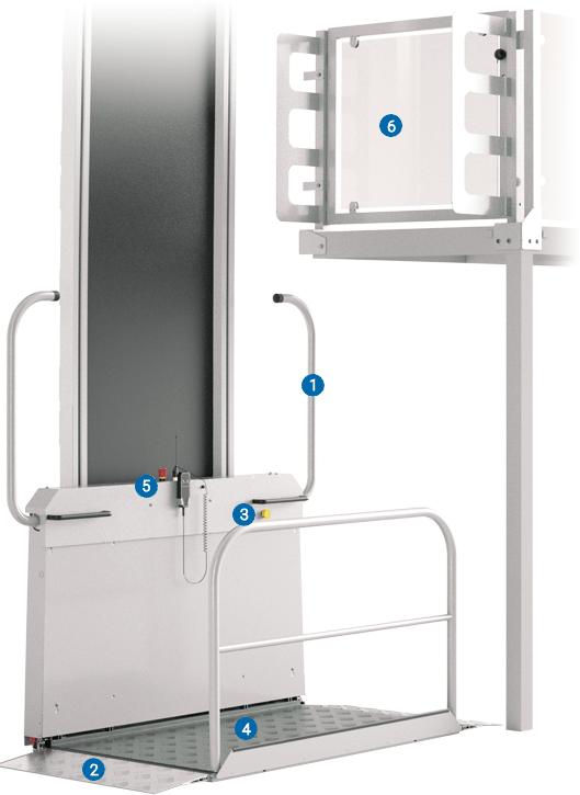 Lippe Lift Vertikal-Plattformlift Sicherheit
